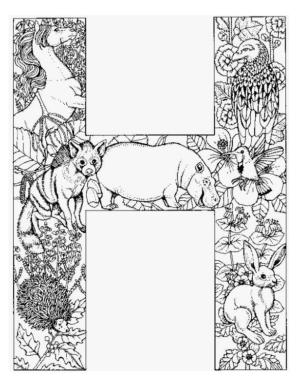 Planse De Colorat Alfabetul Cu Animale De Colorat P08
