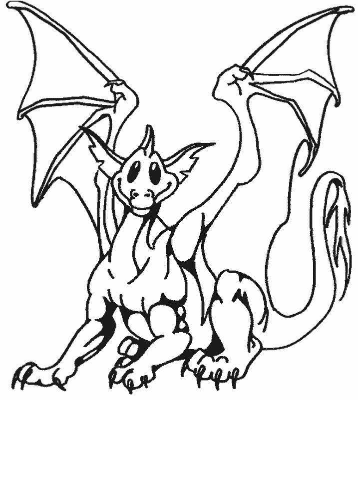 Planse de colorat Animale dragoni
