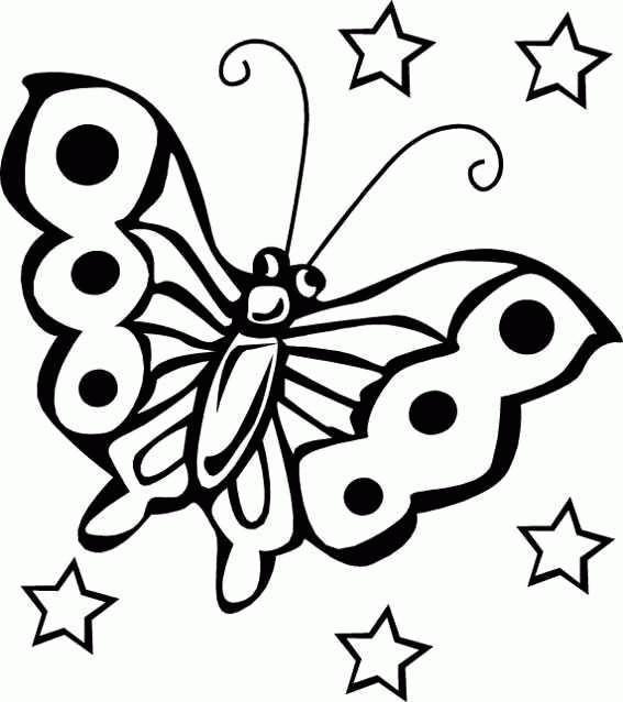 Planse De Colorat Cu Animale Fluturasi Desene De Colorat