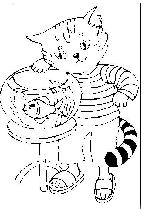 Animale pisici de colorat p38