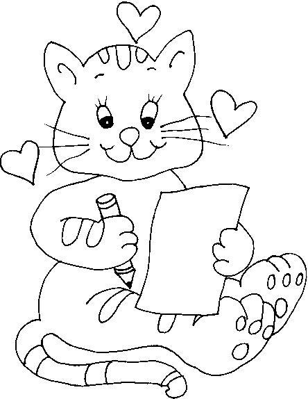 Animale pisici de colorat p52