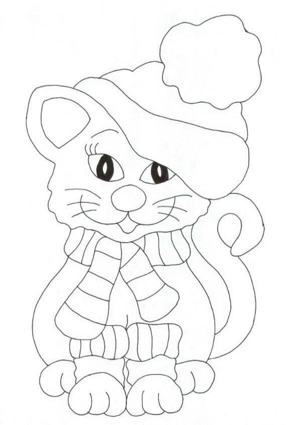 Animale pisici de colorat p73