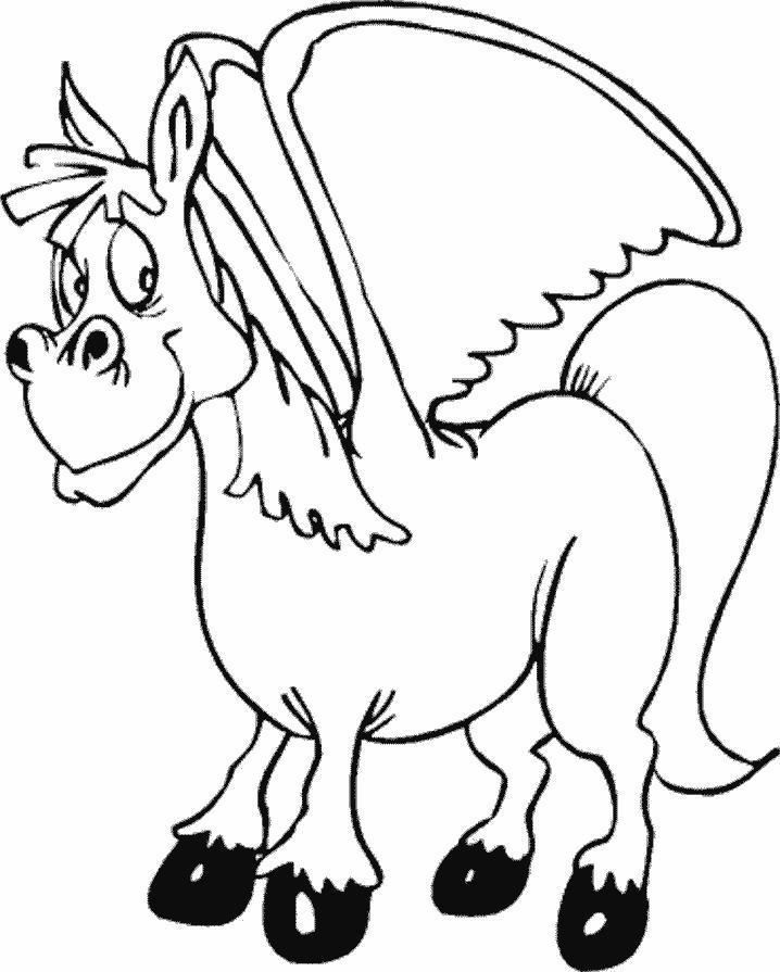 Planse De Colorat Cu Animale Unicorni Desene De Colorat Cu