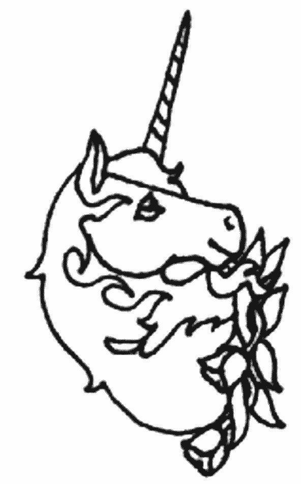 Planse de colorat Animale unicorni