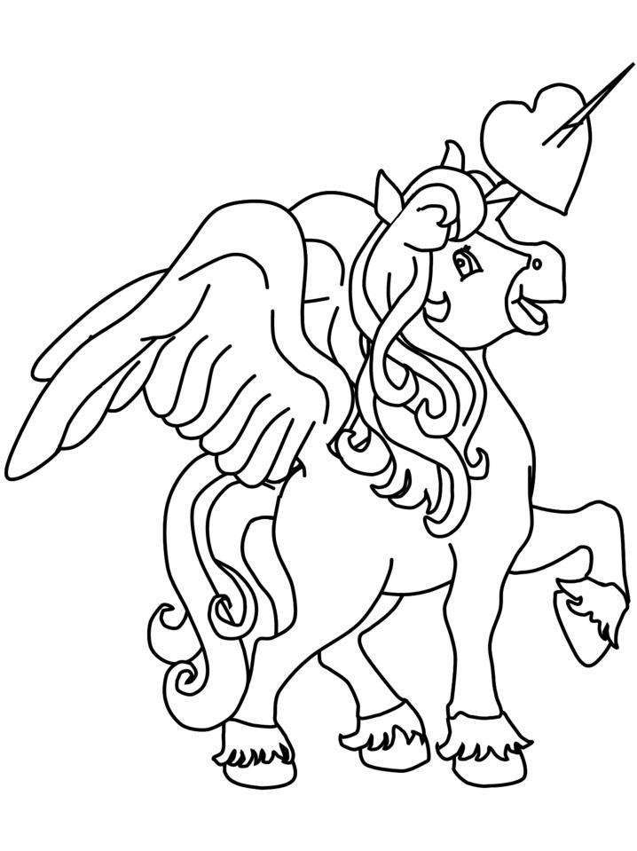 Planse De Colorat Animale Unicorni De Colorat P24 Desene