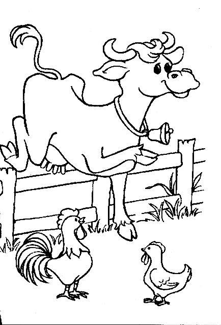 Planse De Colorat Animale Vaci De Colorat P13 Desene De