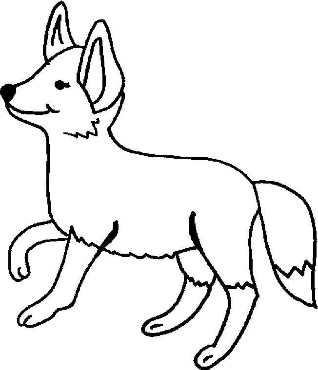 Planse De Colorat Animale Vulpi De Colorat P07 Desene De
