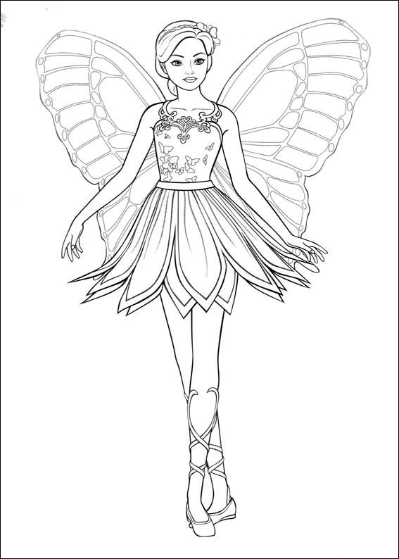 Planse De Colorat Barbie Mariposa De Colorat P02 Desene De