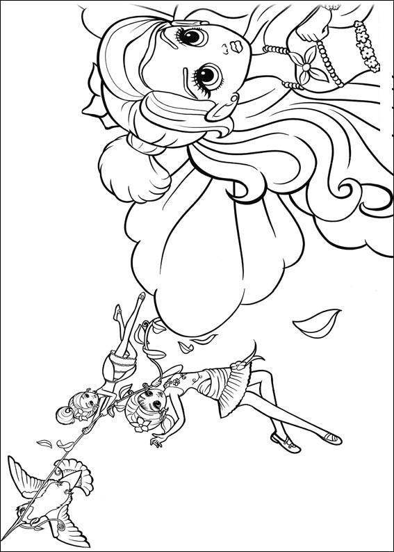 Kleurplaten Rapunzel Film Planse De Colorat Barbie Thumbelina De Colorat P15