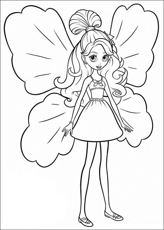 Planse De Colorat Barbie Thumbelina De Colorat P19 Desene