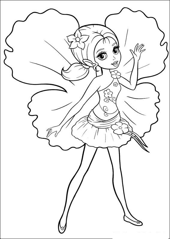 Planse de Colorat cu Barbie Sirena Planse de Colorat cu Barbie
