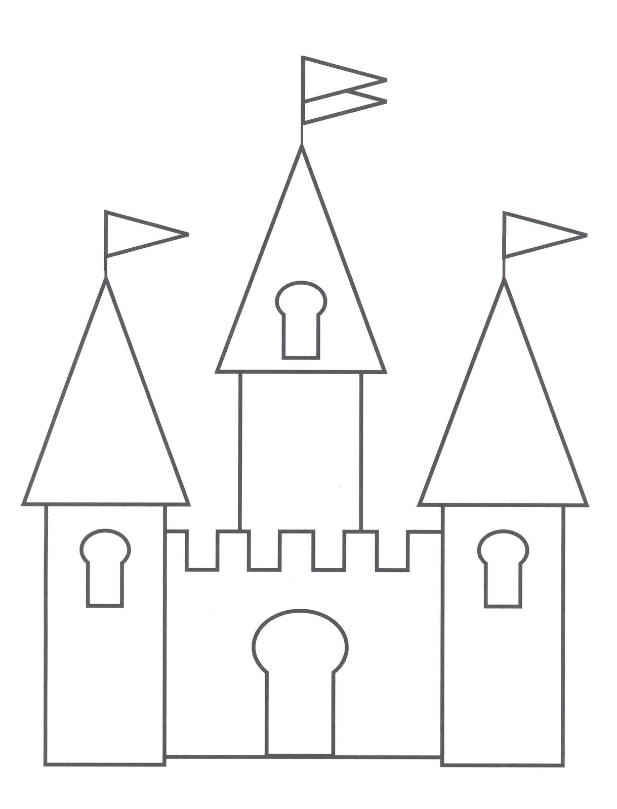 Planse De Colorat Cu Castele Desene De Colorat Cu Castele