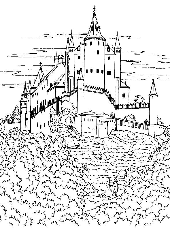 free inner castle coloring pages - photo#10