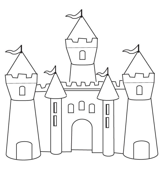 Line Art Year 1 : Planse de colorat castele p desene