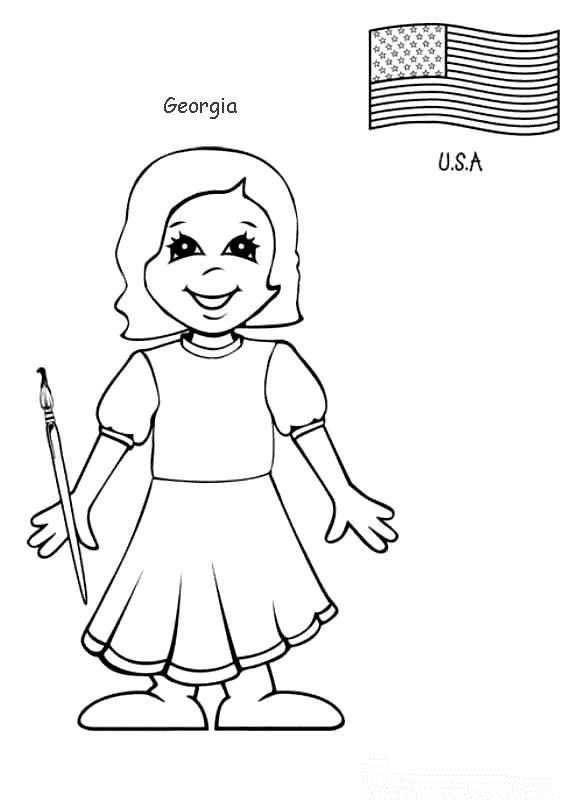 Planse De Colorat Copii De Pretutindeni De Colorat P25