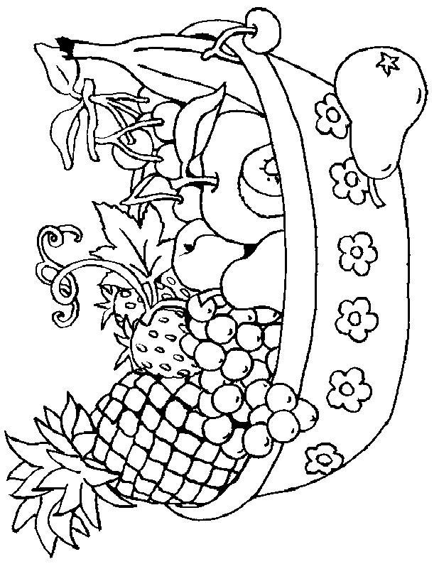Planse De Colorat Cu Cos Cu Fructe Desene De Colorat Cu