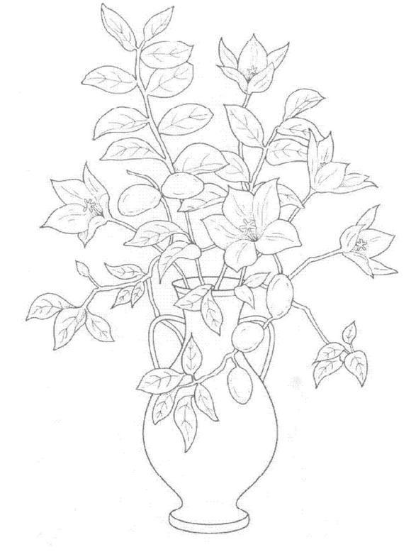 Flori de colorat p13