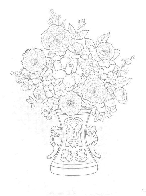 Flori de colorat p14