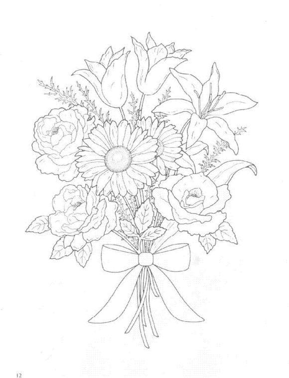 Flori de colorat p15