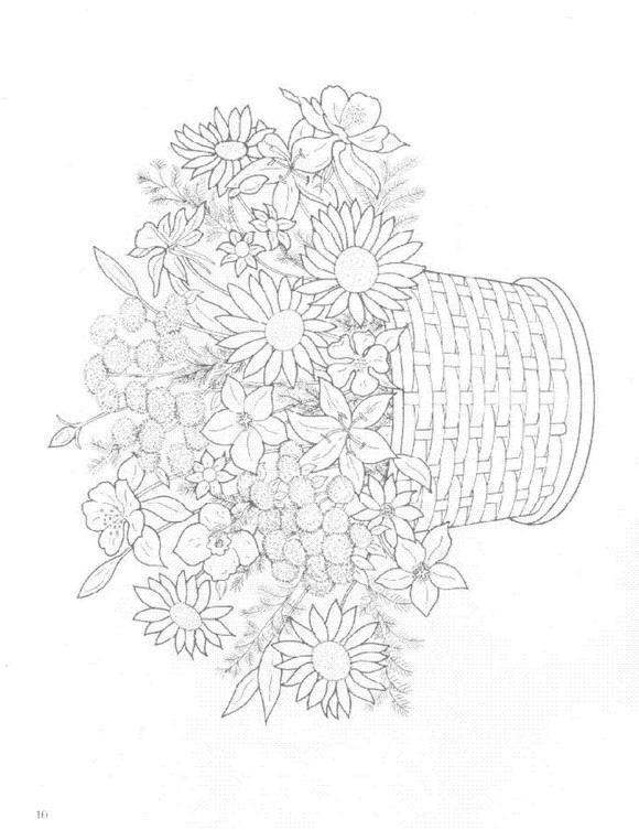 Flori de colorat p18
