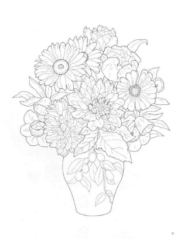 Flori de colorat p19