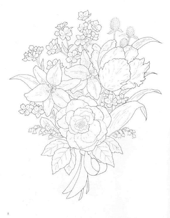 Flori de colorat p20