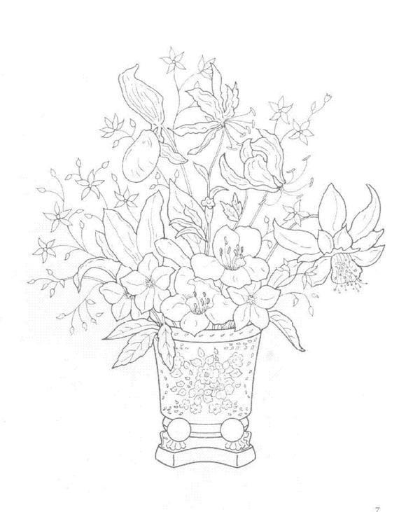 Flori de colorat p21