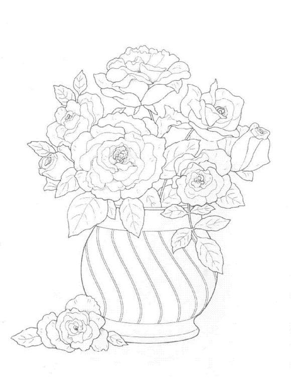 Flori de colorat p22