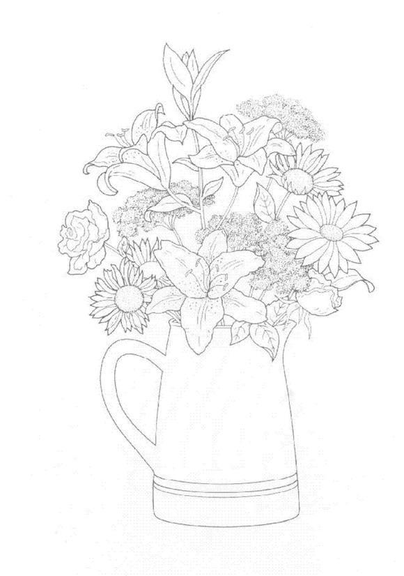 Flori de colorat p23