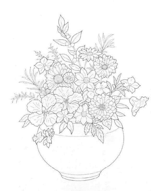 Flori de colorat p24