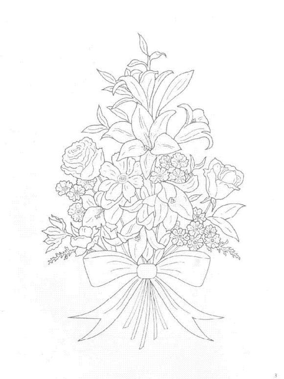 Flori de colorat p26