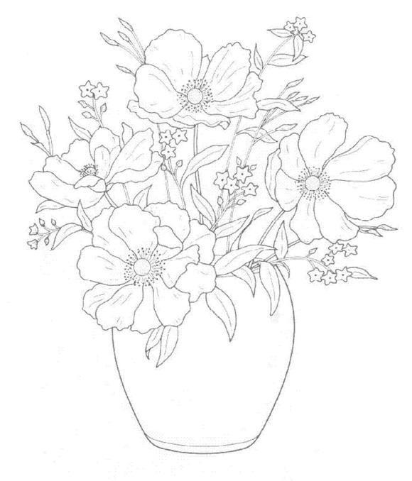 Flori de colorat p28