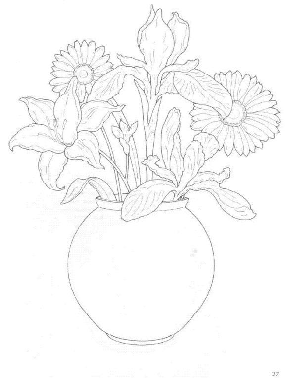 Flori de colorat p30