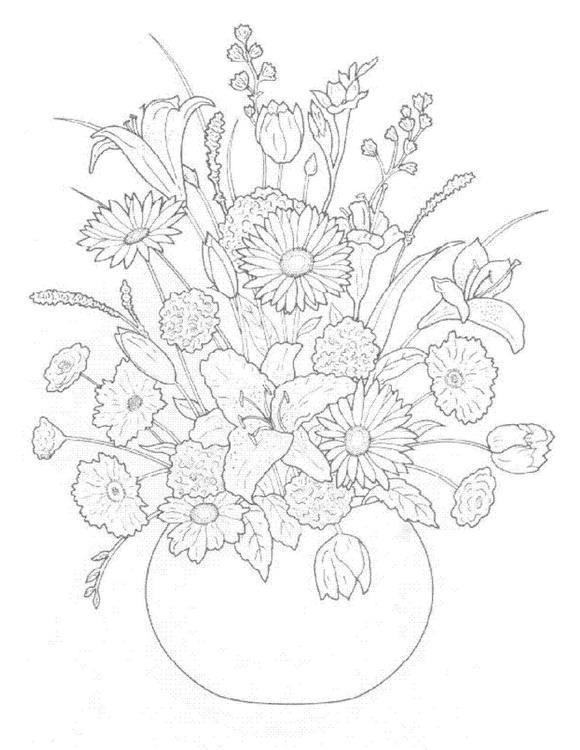Flori de colorat p32