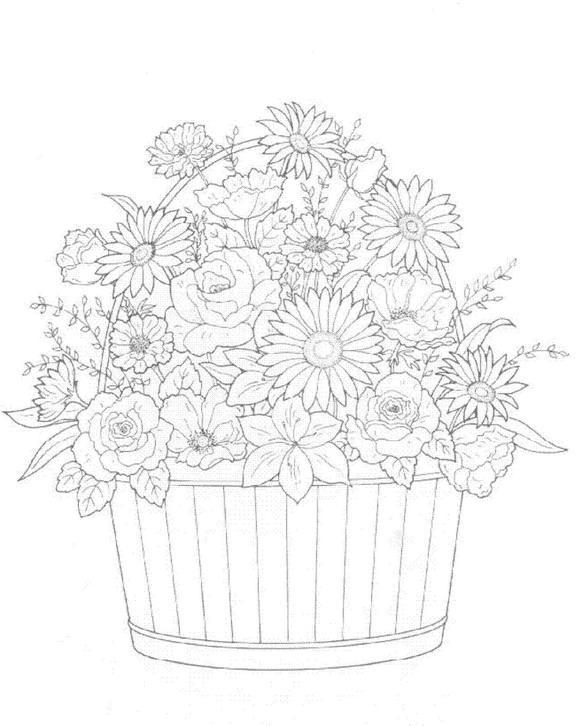 Flori de colorat p34
