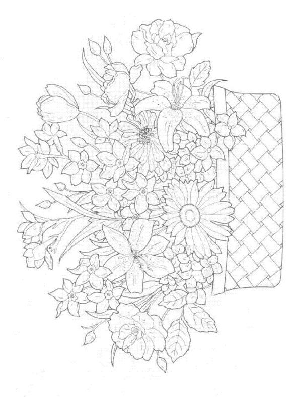 Flori de colorat p38