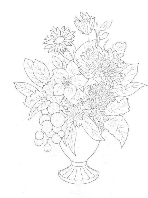 Flori de colorat p39