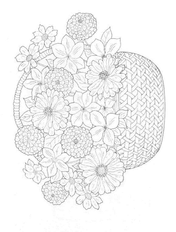Flori de colorat p42