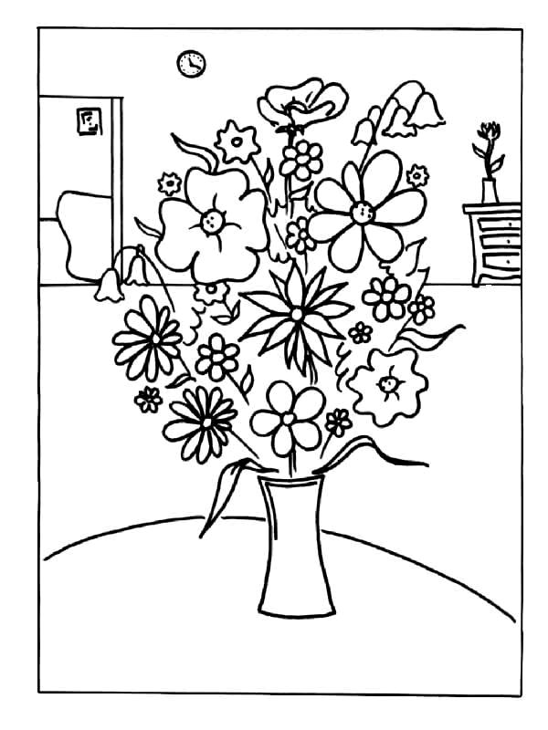 Flori de colorat p43