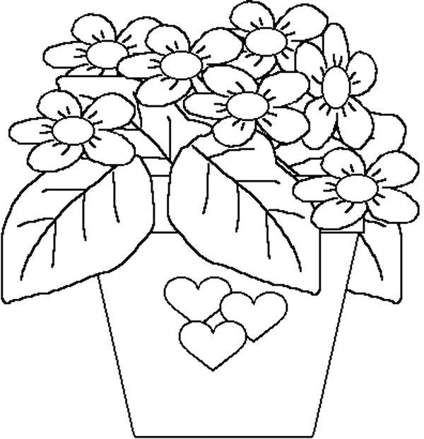 Flori de colorat p44