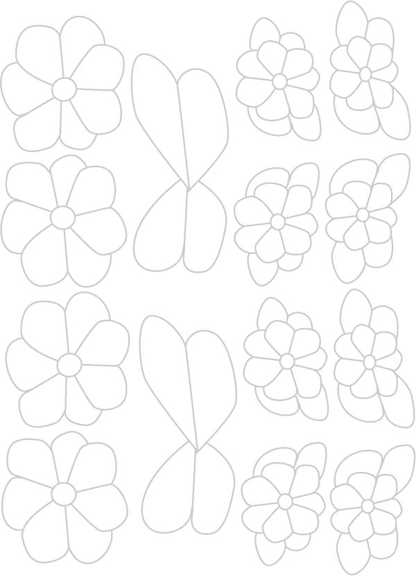 Flori de colorat p65