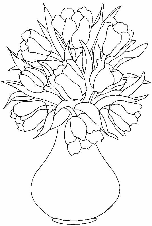 Planse De Colorat Flori Lalele De Colorat P20 Desene De