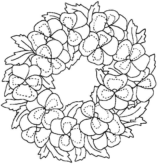 Planse de colorat flori panselute de colorat p05 desene - Dessin fleur a colorier ...