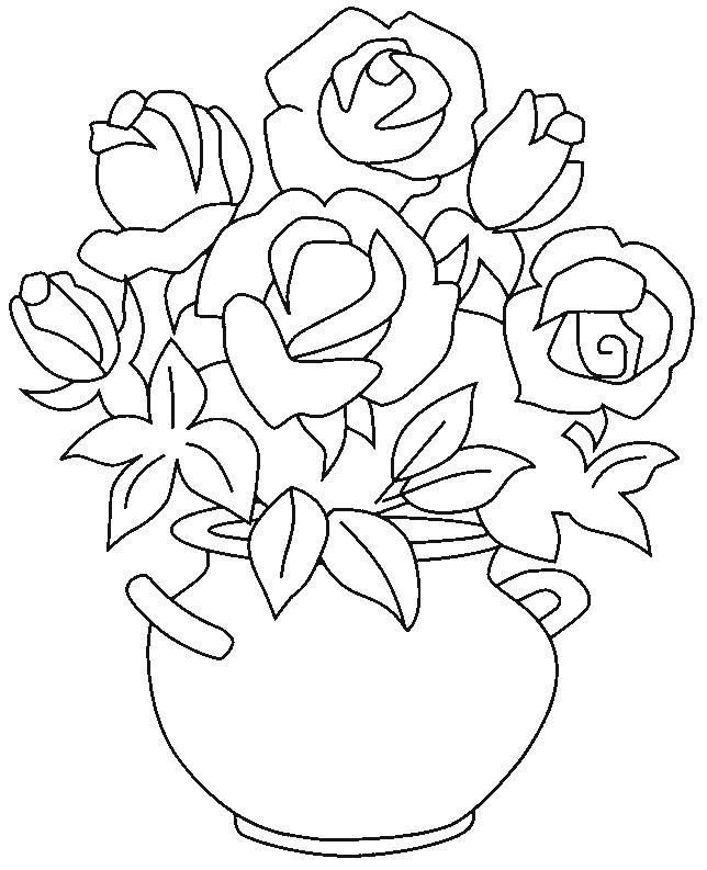Planse De Colorat Flori Trandafiri De Colorat P07 Desene
