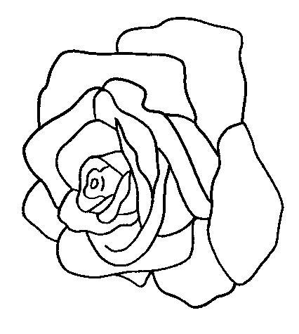 Planse de colorat flori trandafiri de colorat p19   Desene de colorat