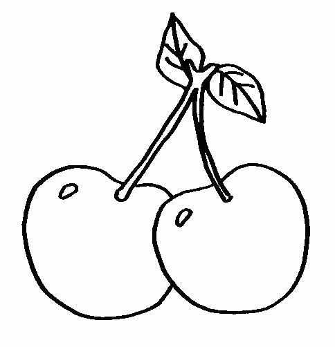 Planse De Colorat Cu Fructe Cirese Desene De Colorat Cu