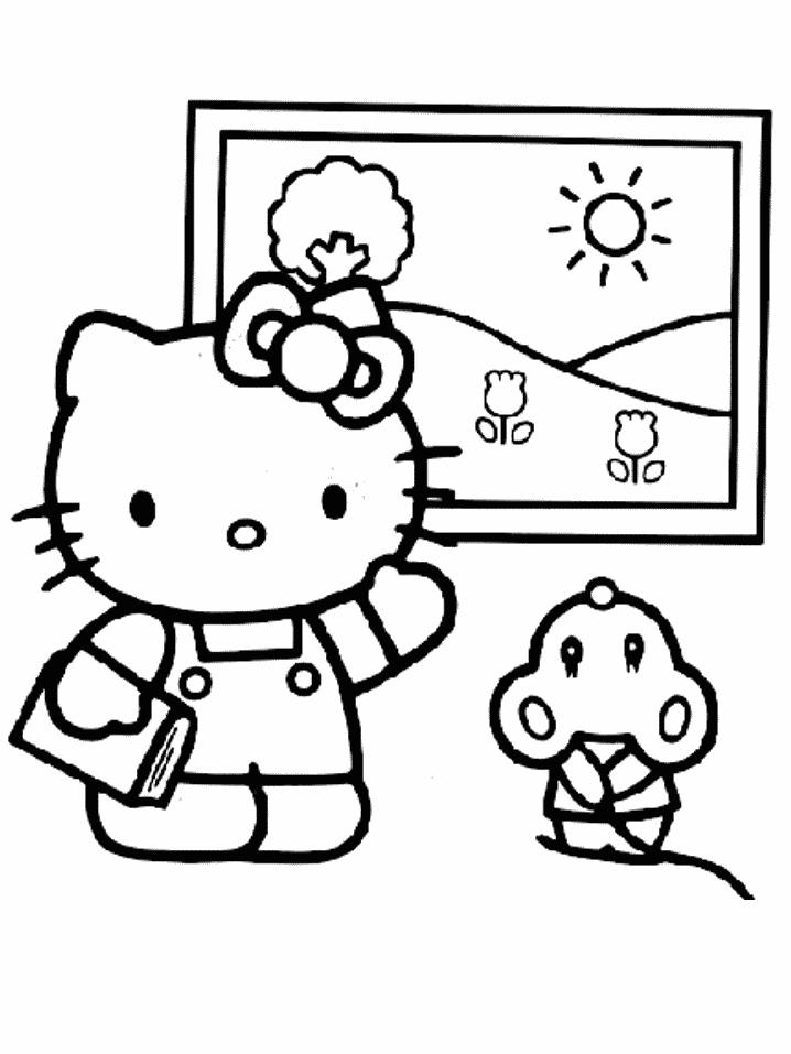 Hello kitty de colorat p05