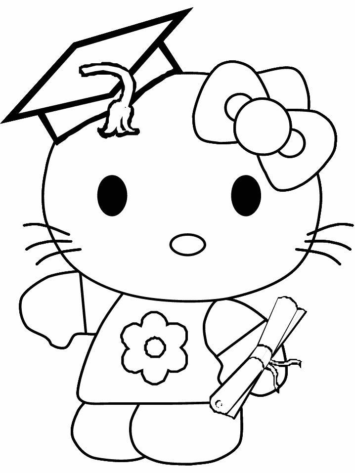 Hello kitty de colorat p09
