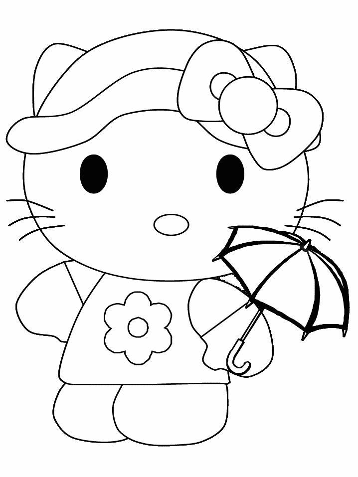 Hello kitty de colorat p10