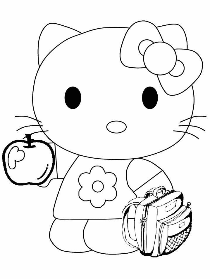 Hello kitty de colorat p11